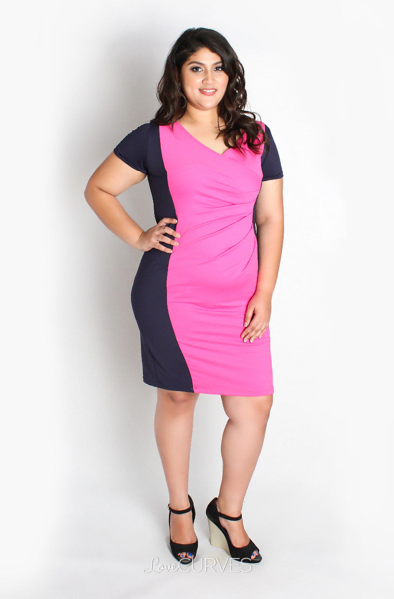 Color Block Sheath Dress - REB