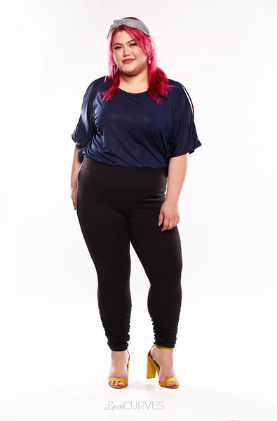 Ruched Leggings - Black02 - KDR