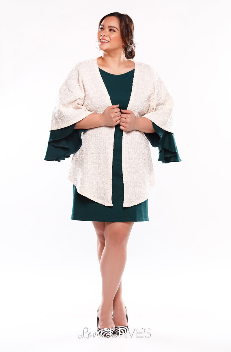 Kimono Sleeves Cover-Up - Sparkly Cream - KDR