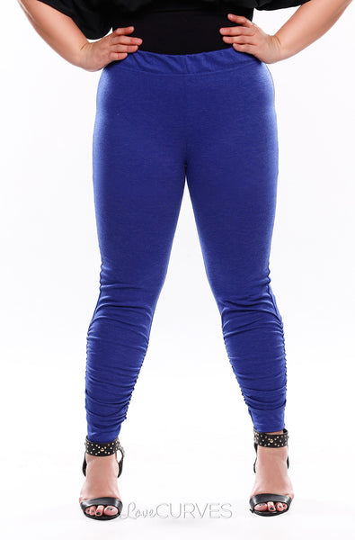 Ruched Leggings - Ultramarine - KDR