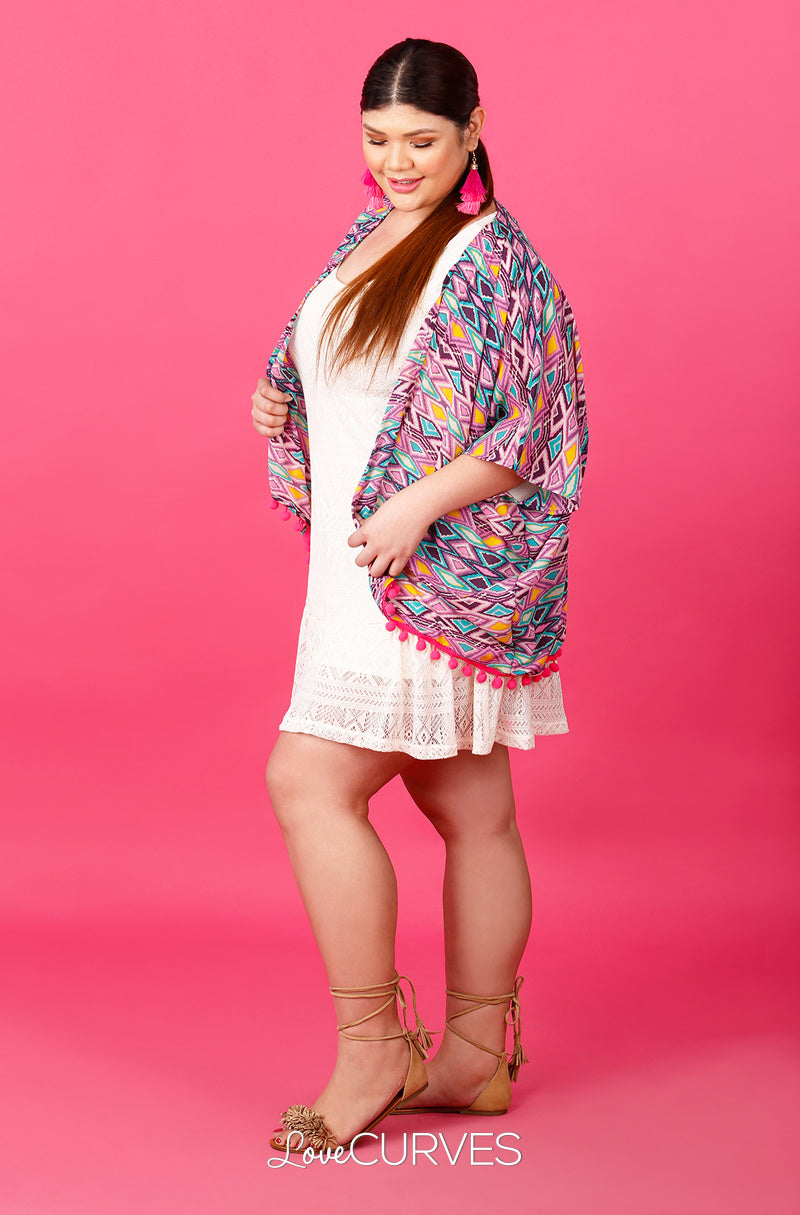 Pompom Cover-Up - Purple Tribe - ATT