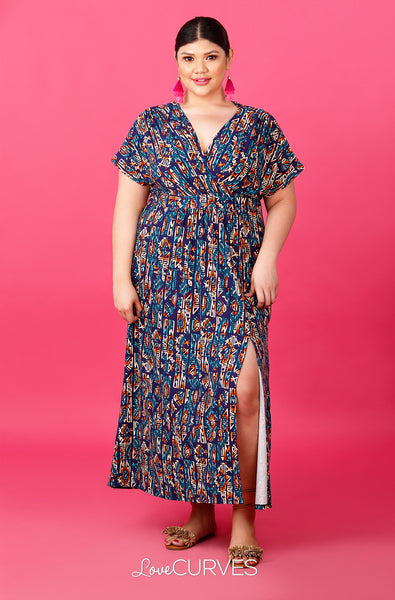 Wrap Maxi Dress with Slit - Pandora's Box - ATT