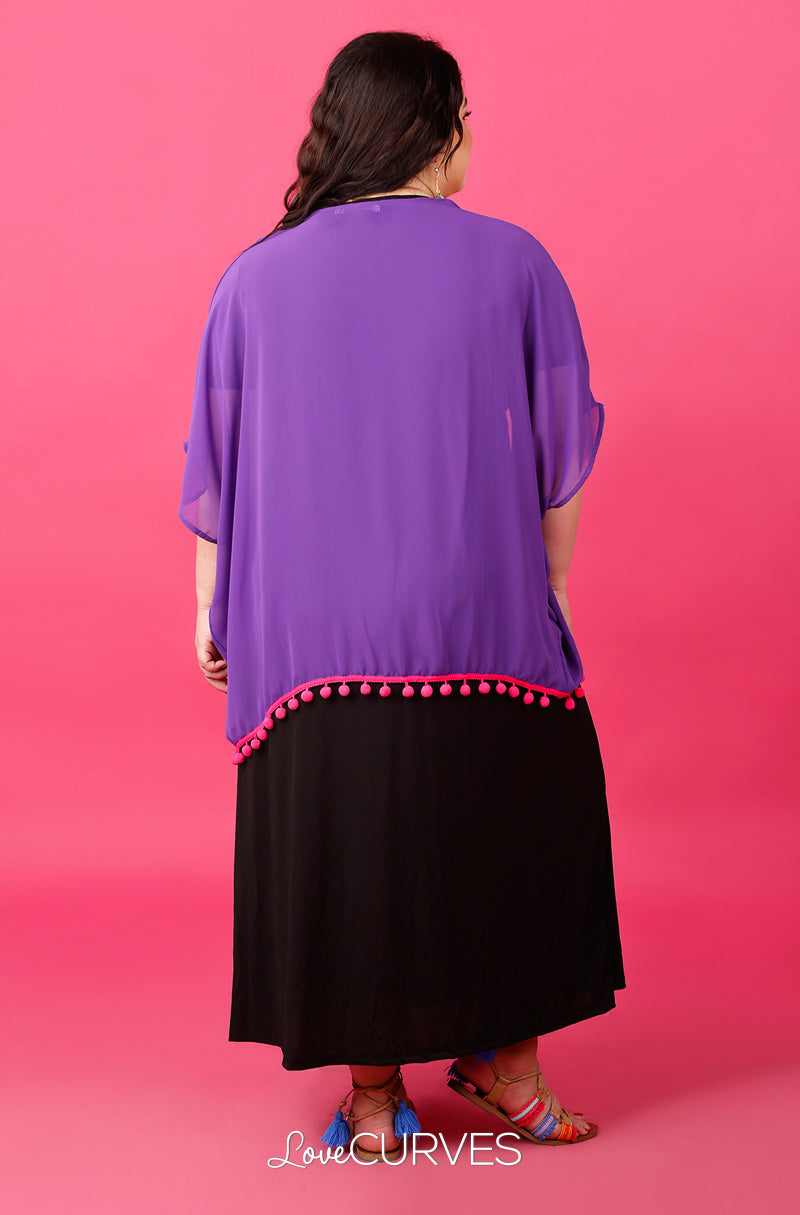 Pompom Cover-Up - Purple - ATT