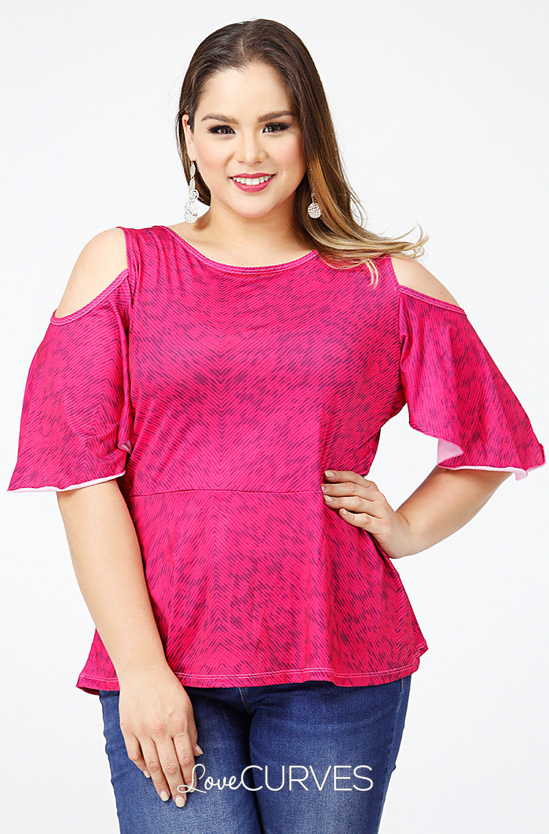 Cold Shoulder Peplum Top - PSY