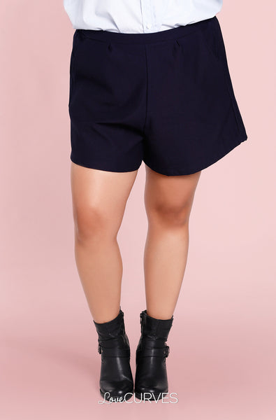 Basic Shorts with Pockets - Dark Blue - KDR
