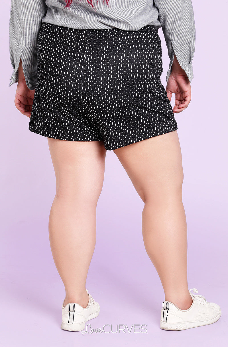 Basic Shorts with Pockets - Black Crystals - KDR