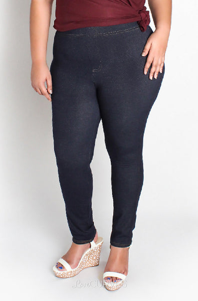 Top Stitched Basic Leggings - JES