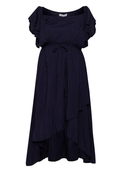 Square Neck Mullet Dress - Darkest Blue