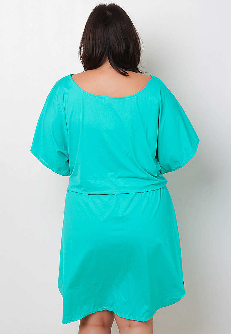 Dolman Blouson Mullet Dress TOC