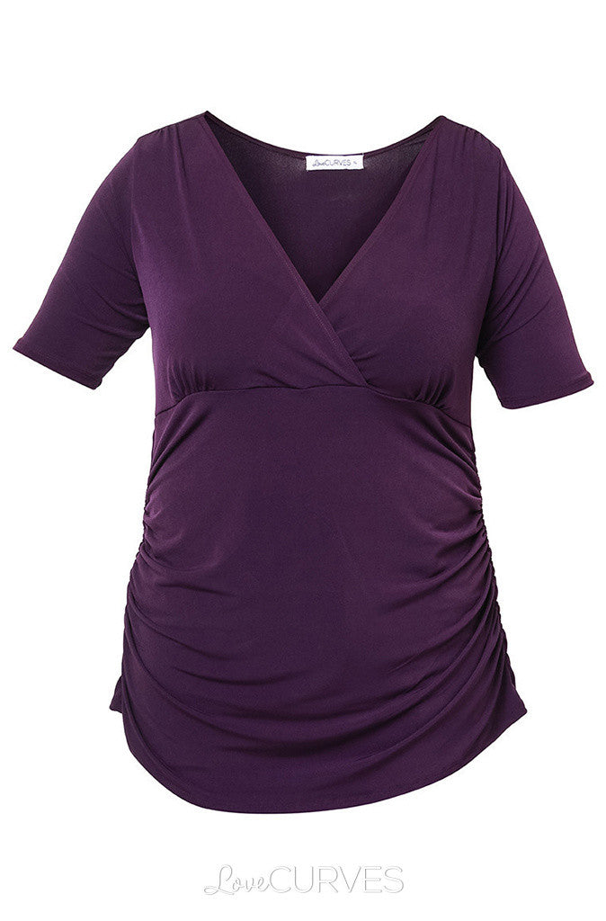 Wrap top with Ruched detail - REB