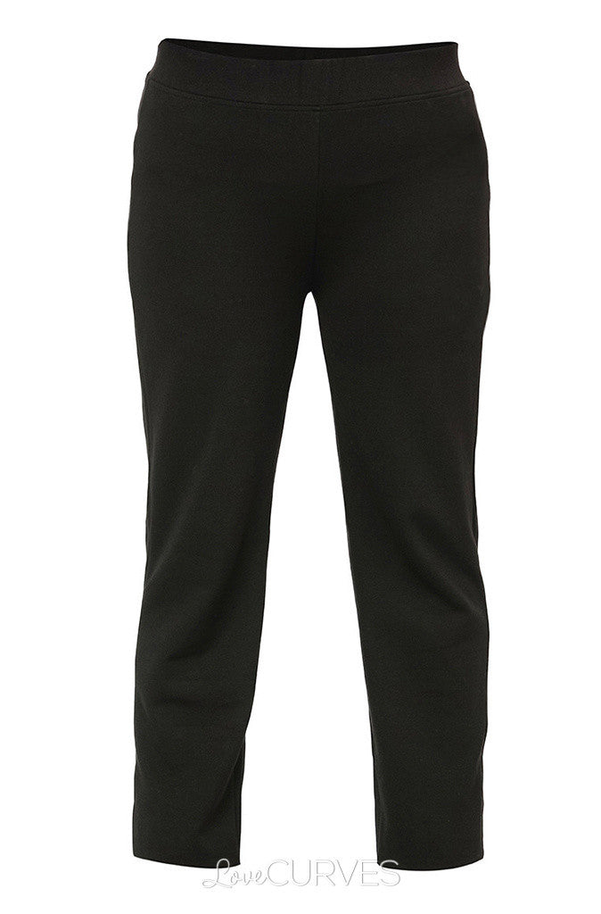 Elasticized Slim Straight Cut Pants - REB
