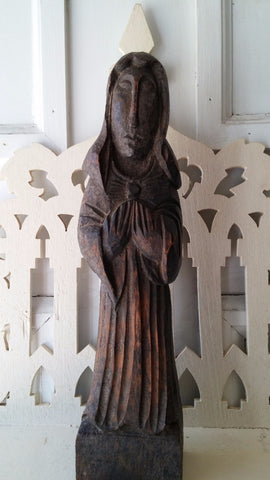 Hand Carved Wooden Saint