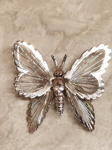 Monet Butterfly brooch