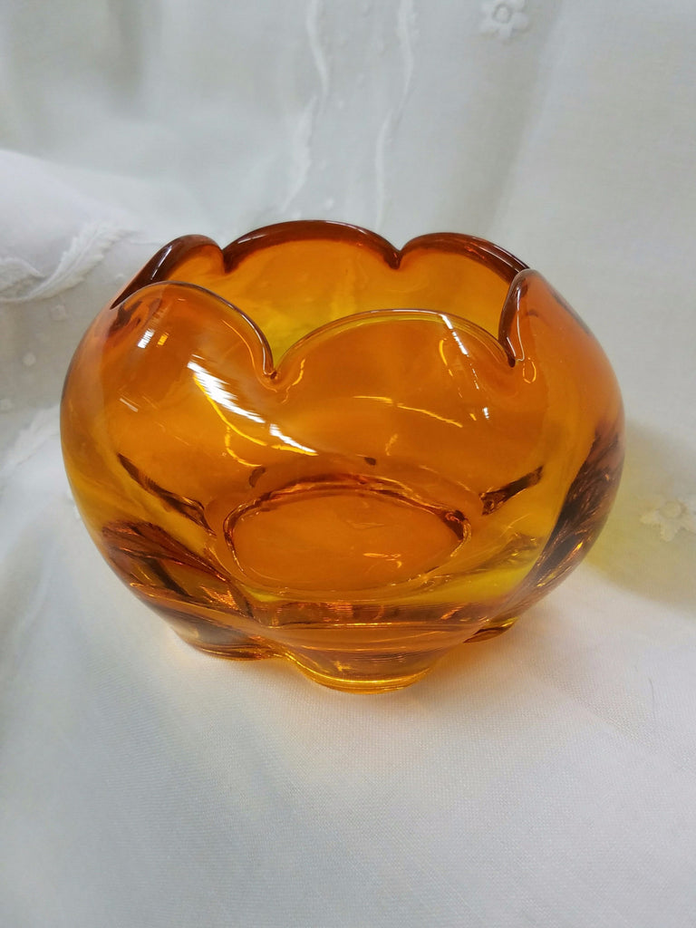 Tiffin Glass Rose Bowl