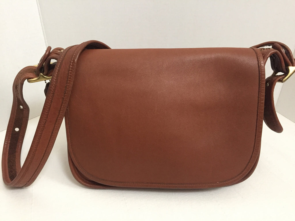 de4e807a54f0 ... where to buy red dots place. vintage coach patricias legacy brown  crossbody messenger saddle bag