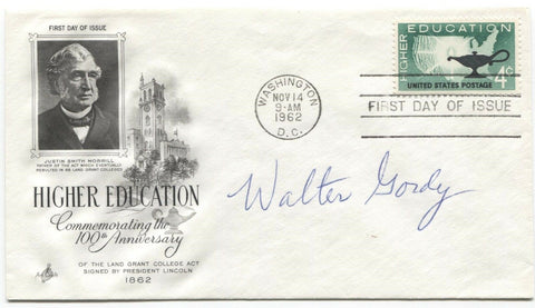 Walter Gordy Signed FDC First Day Cover Autographed Scientist Signature