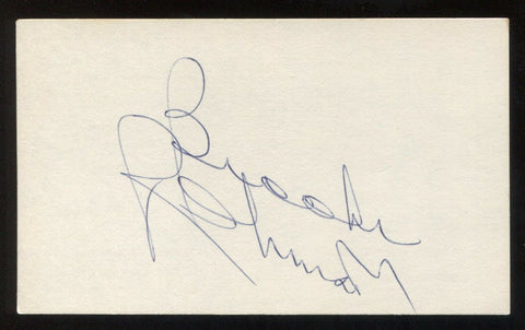 Brooks Robinson Signed 3x5 Index Card Autographed Vintage Baseball Hall of Fame