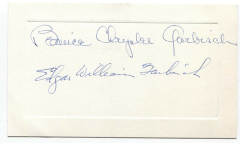 Edgar Garbisch Signed Card Autographed College Football Hall of Fame HOF