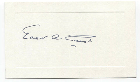Edgar Guest Signed Card Autographed Vintage Signature People's Poet