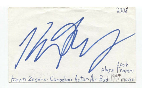 Kevin Zegers Signed 3x5 Index Card Autographed Signature Actor Dawn of the Dead