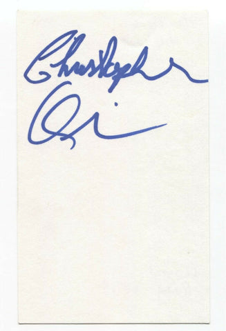 Heartbreak Hill - Chris Quinn Signed 3x5 Index Card Autographed Signature Band