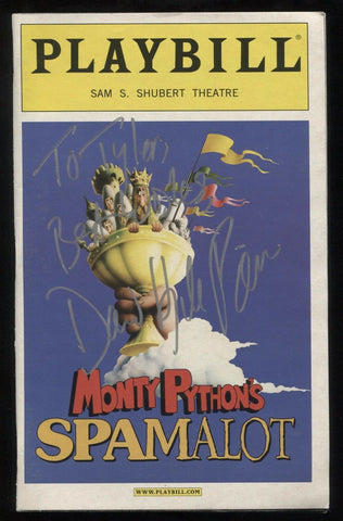 "David Hyde Pierce Signed Broadway Playbill Spamalot Vintage Autographed ""Tyler"""