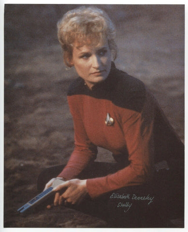 Elizabeth Dennehy Signed 8x10 Inch Photo Autographed Signature Star Trek TNG