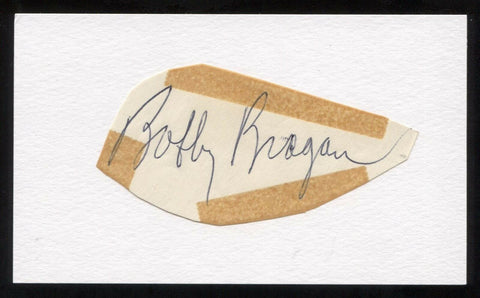 Bobby Bragan Signed Cut Autographed Index Card Circa 1962 Baseball Signature
