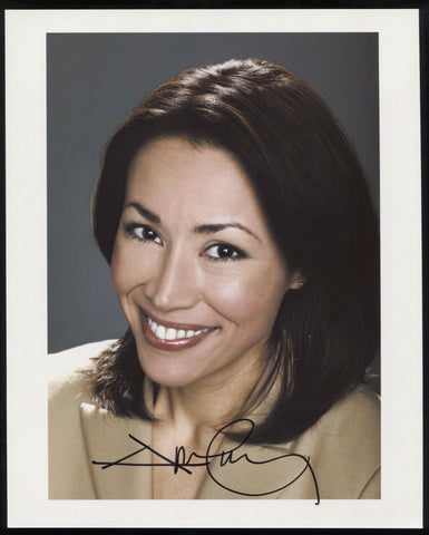 Ann Curry Signed 8 x 10 Inch Photo Vintage Autographed Signature