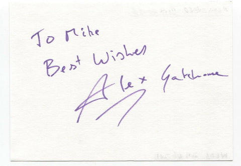 "Alexander Gatehouse Signed Album Page Autographed Signature Inscribed ""To Mike"""