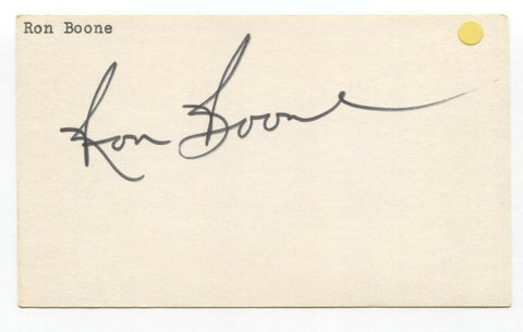 Ron Boone Signed 3x5 Index Card Autographed Signature NBA Basketball
