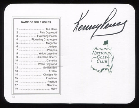 Kenny Perry Signed Masters Scorecard Autographed Golf Augustus Signature