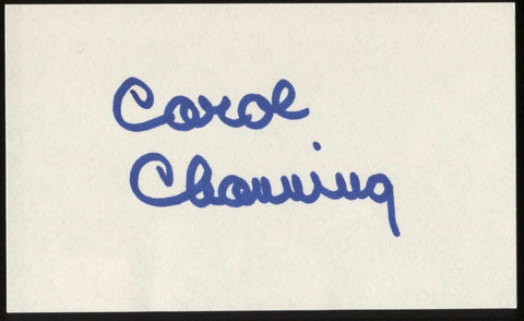 Carrol Channing Signed Index Card Signature Vintage Autographed AUTO
