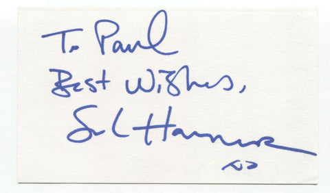 Sarah Harmer Signed 3x5 Index Card Autographed Signature Singer