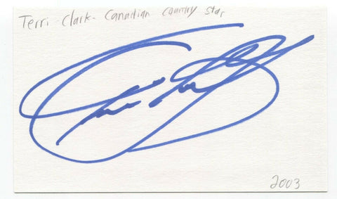 Terri Clark Signed 3x5 Index Card Autographed Signature Country Singer