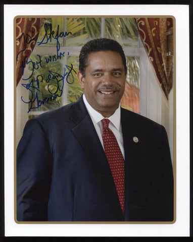 John de Jongh Signed 8x10 Photo U.S. Virgin Islands Governor Autographed