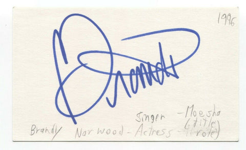 Brandy Norwood Signed 3x5 Index Card Autographed Signature Singer Actress Moesha