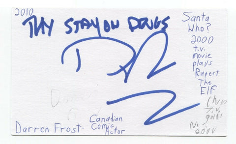 Darren Frost Signed 3x5 Index Card Autograph Signature Comedian Actor