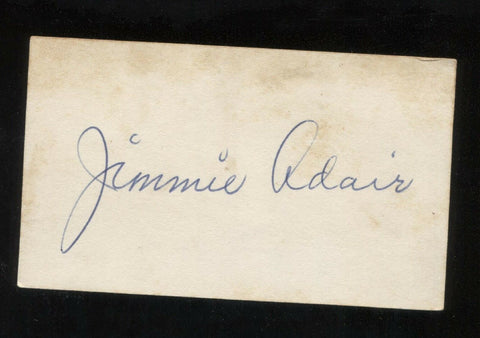 Jimmy Adair VINTAGE SIGNED Card Autograph Baseball Card Signature