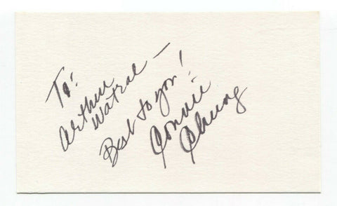Connie Chung Signed 3x5 Index Card Autographed Actress Signature