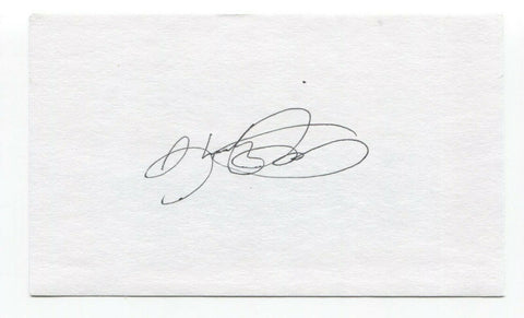 Shooty Babitt Signed 3x5 Index Card Baseball Autographed Signature