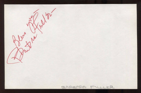 Barbara Fuller Signed HUGE 8x5 Inch Page Autographed The Red Menace