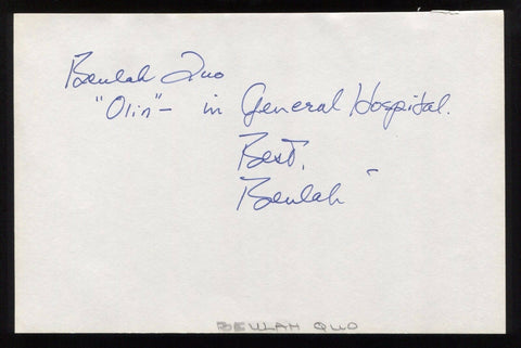 Beulah Quo Signed HUGE 8x5 Inch Page Autograph Chinatown General Hospital