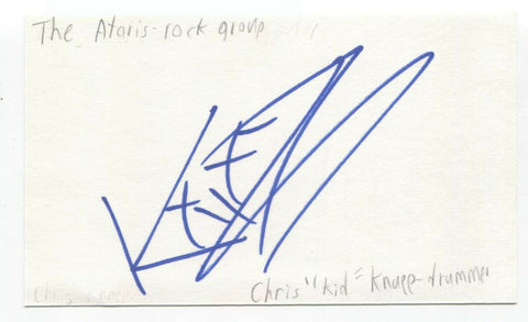 The Ataris - Chris Knapp Signed 3x5 Index Card Autographed Signature Band