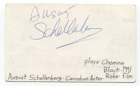 August Schellenberg Signed 3x5 Index Card Autographed Signature Actor Black Robe