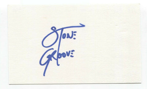 BTK - Birth Through Knowledge - DJ Stone Groove Signed 3x5 Index Card Autograph