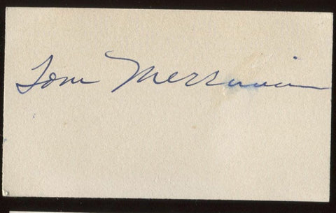 Tom Merriman Signed Card  Autographed Orchestra AUTO Signature Piano