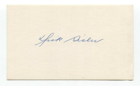 Dick Sisler Signed Index Card Autographed Baseball 1946 St Louis Cardinals