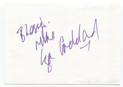 "Lisa Goddard Signed Album Page Autographed Signature Inscribed ""To Mike"""