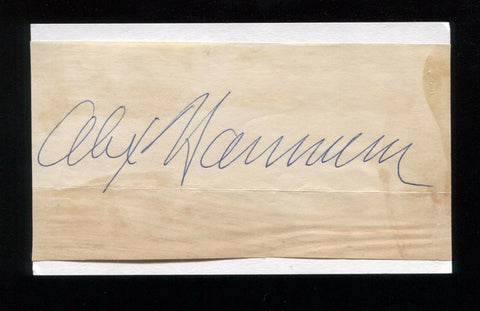 Alex Hannum Signed 3x5 Index Card Autographed Signature Basketball Hall of Fame